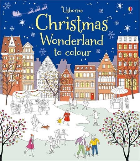 a stylish collection of festive scenes to colour in perfect for keeping children occupied in the busy run up to christmas features beautiful drawings of